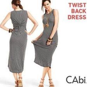CAbi twist back maxi dress size small